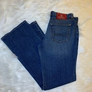 Lucky Brand Red Label Dungarees Mid Rise Flare EUC